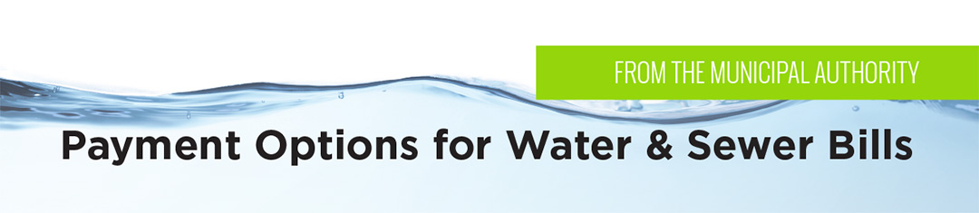Payment Options for Water & Sewer Bills